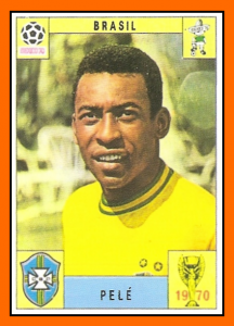 Pelé Panini Brésil Mexico 70